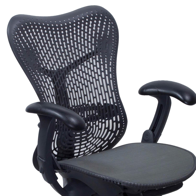 herman miller mirra used mesh seat task chair graphite national