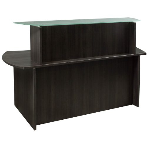 goSIT Everyday Gray Glass Top Reception Desk - Front
