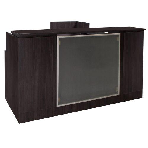 goSIT Everyday Gray L-Shape Left Return Reception Desk - Front