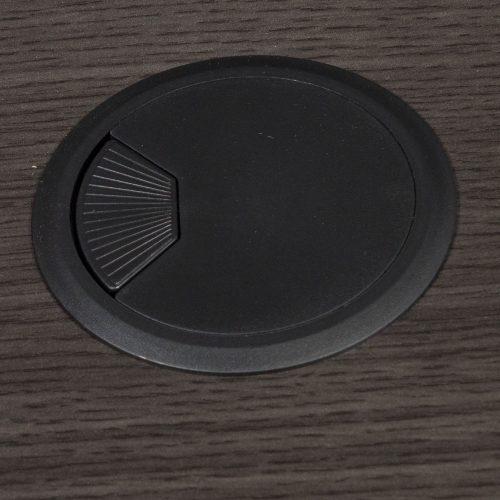 goSIT Everyday Gray L-Shape Left Return Reception Desk - Grommet