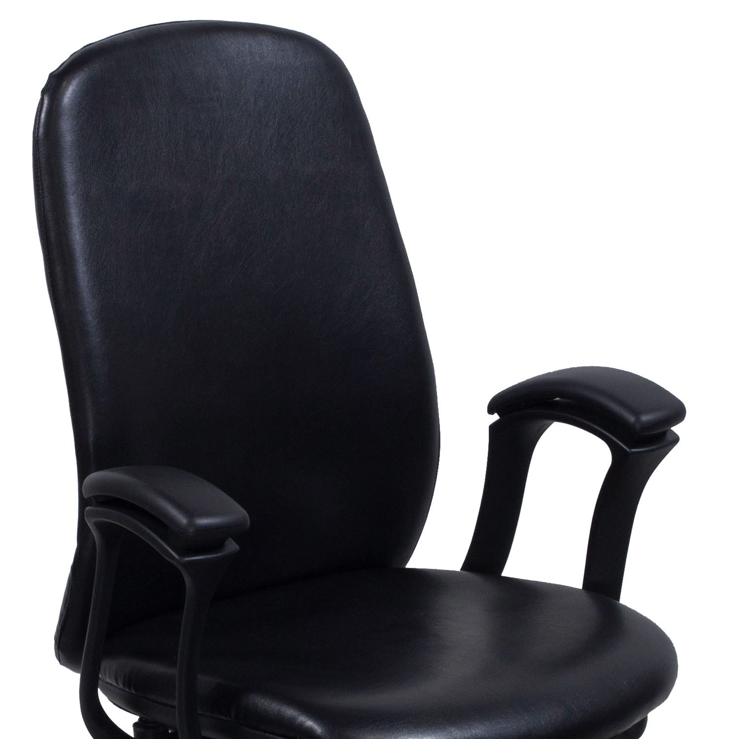 Teknion Amicus Black Leather Conference Chair   Arm