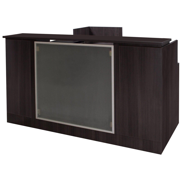 Gosit Everyday Gray L Shape Right Return Reception Desk Front