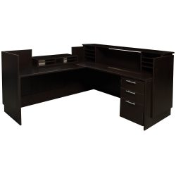 Everyday Espresso Left Return Laminate Reception Desk