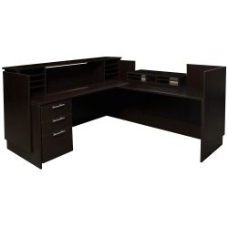 Everyday Espresso Right Return Laminate Reception Desk