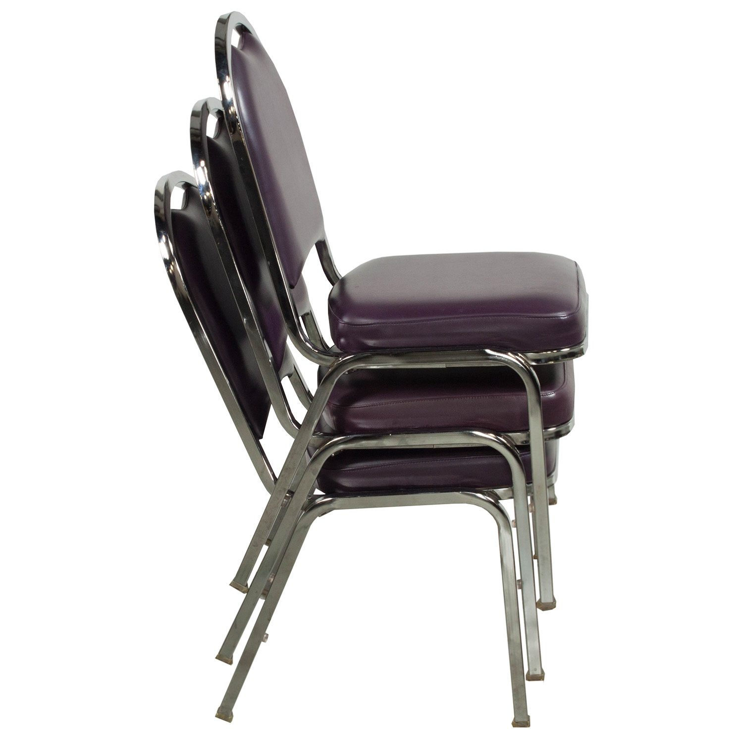 Falcon Used Stacking Side Chair Purple National Office
