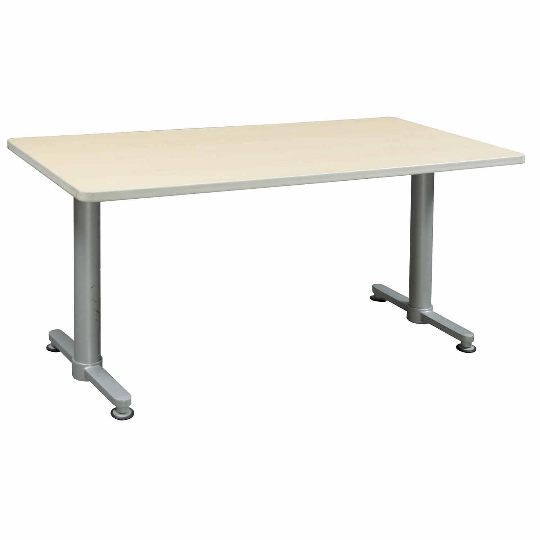 Haworth Rectangular Used 30 215 60 Inch Training Table Maple