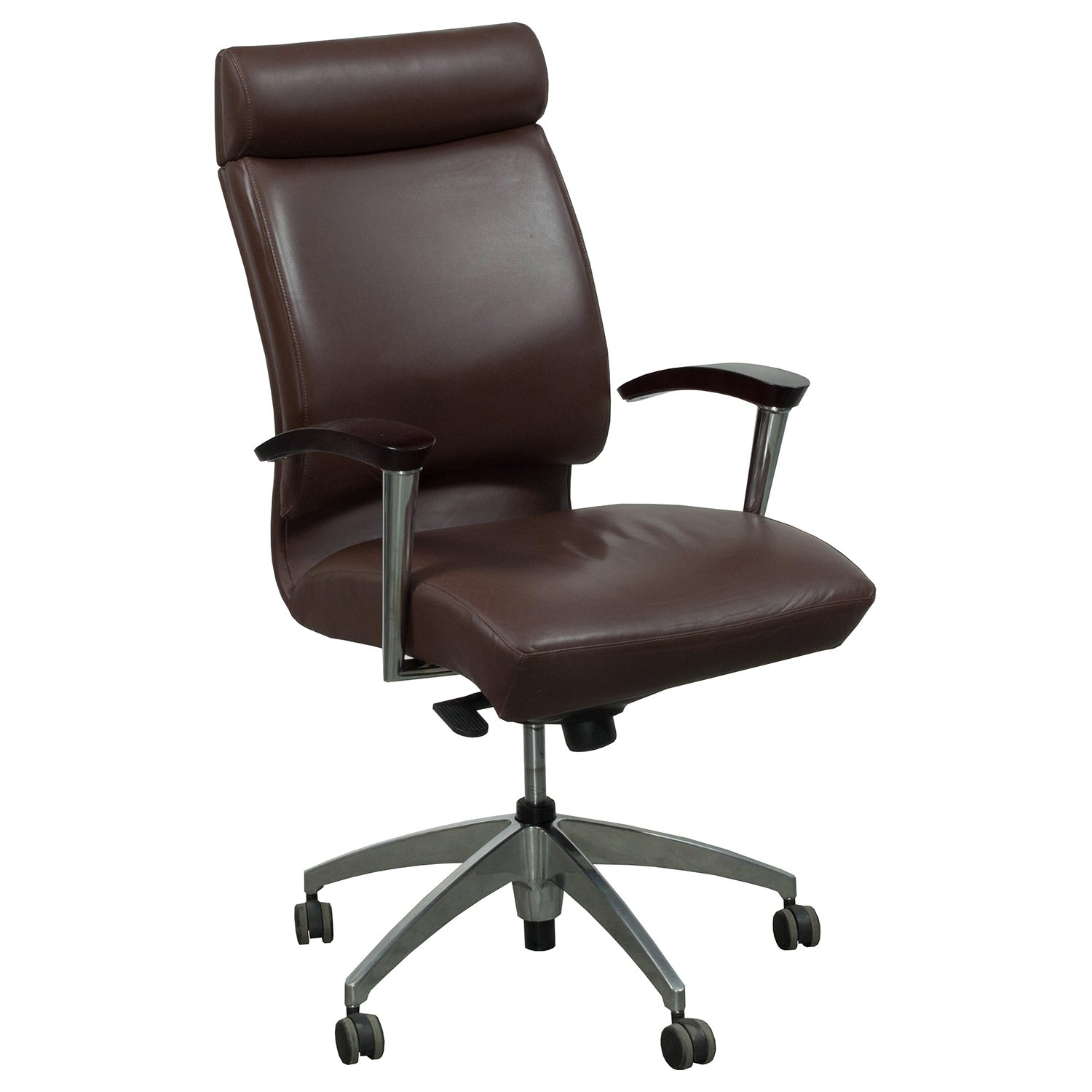 OFS CS2 Used High Back Leather Conference Chair ...