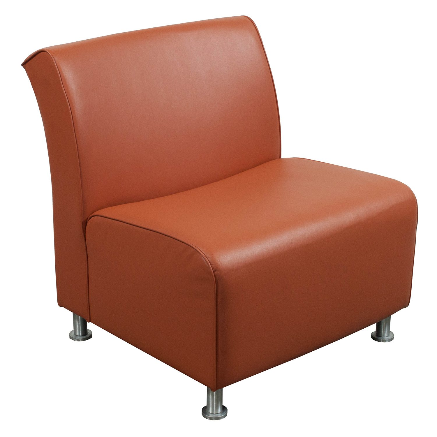 Steelcase Jenny Used Leather Reception Chair Orange