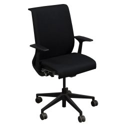 Steelcase Think Used Conference Chair Black Front View