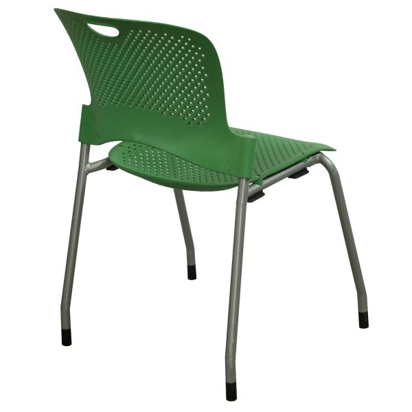 Herman Miller Caper Used Armless Stack Chair Green