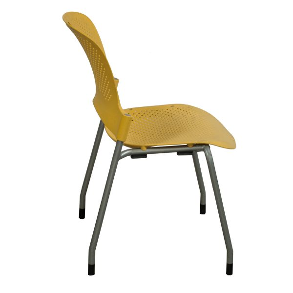 Herman Miller Caper Used Armless Stack Chair Yellow
