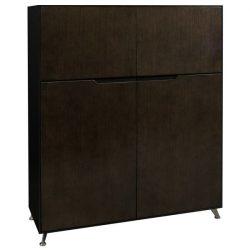 Morgan 50 inch Veneer Storage Cabinet Black and Gray