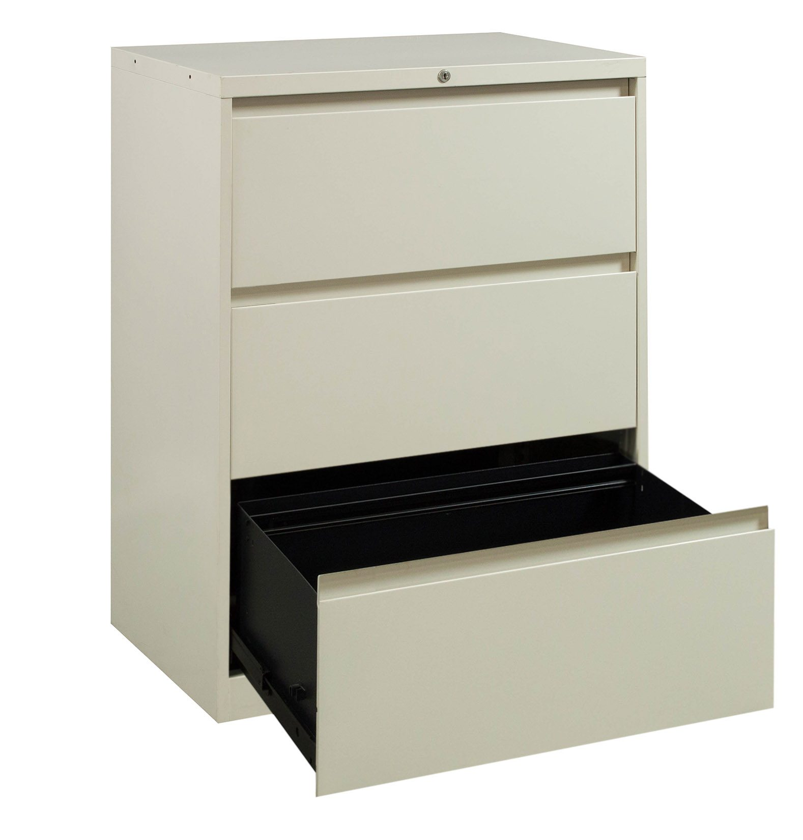 steelcase 900 series used 3 drawer lateral file  creme