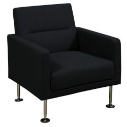 Celeste by goSIT Modern Fabric Reception Chair Black Front View