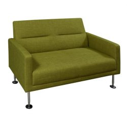 Celeste by goSIT Modern Fabric Reception Loveseat Green Front View