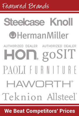 Featured Brands - Steelcase Knoll Herman Miller HON GoSIT PAOLI Haworth Teknion Allsteel