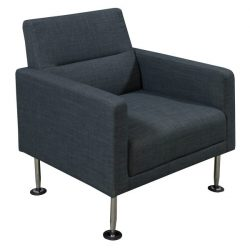 Celeste by goSIT Modern Fabric Reception Chair Gray Front View