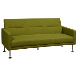 Celeste by goSIT Modern Fabric Reception Couch Green Front View