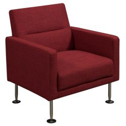 Celeste by goSIT Modern Fabric Reception Chair Red Front View