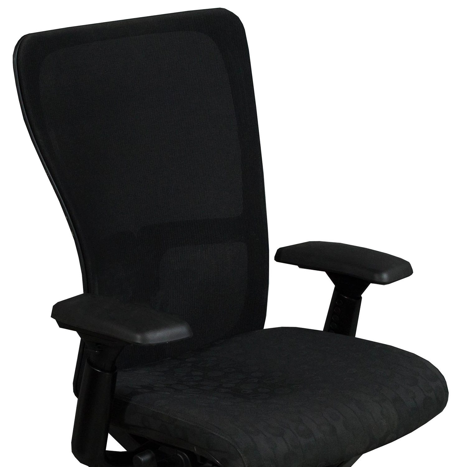 Haworth Zody Used Task Chair, Black Circle Pattern
