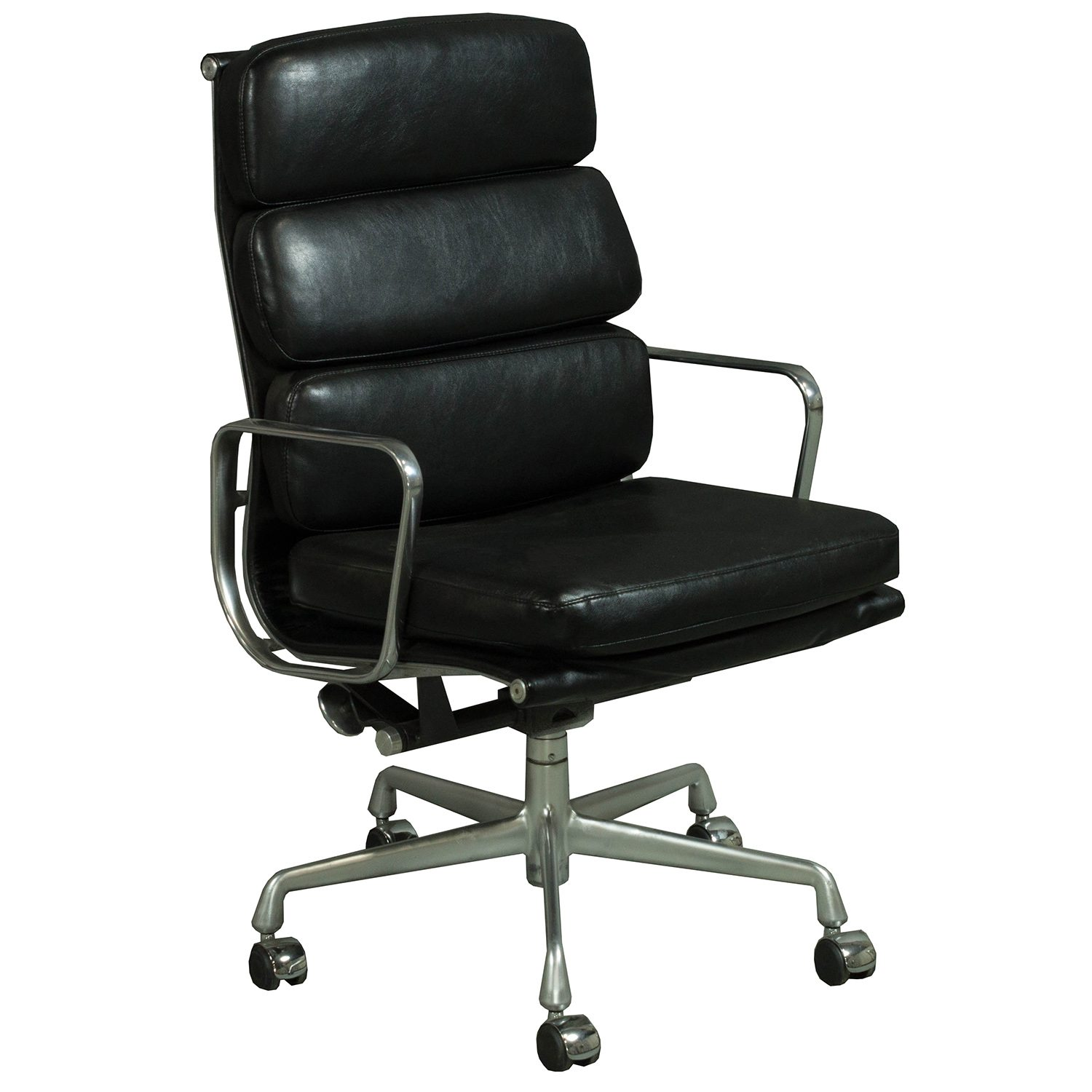 Herman Miller Eames Used Leather Soft Pad High Back Chair, Black