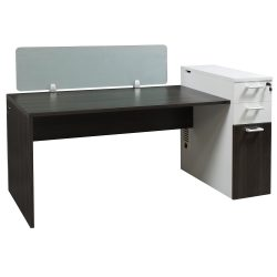Morgan Laminate Desk Station Gray and White