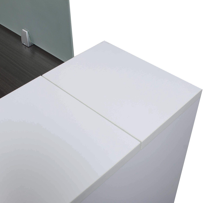 Morgan Laminate Desk Station, Gray And White
