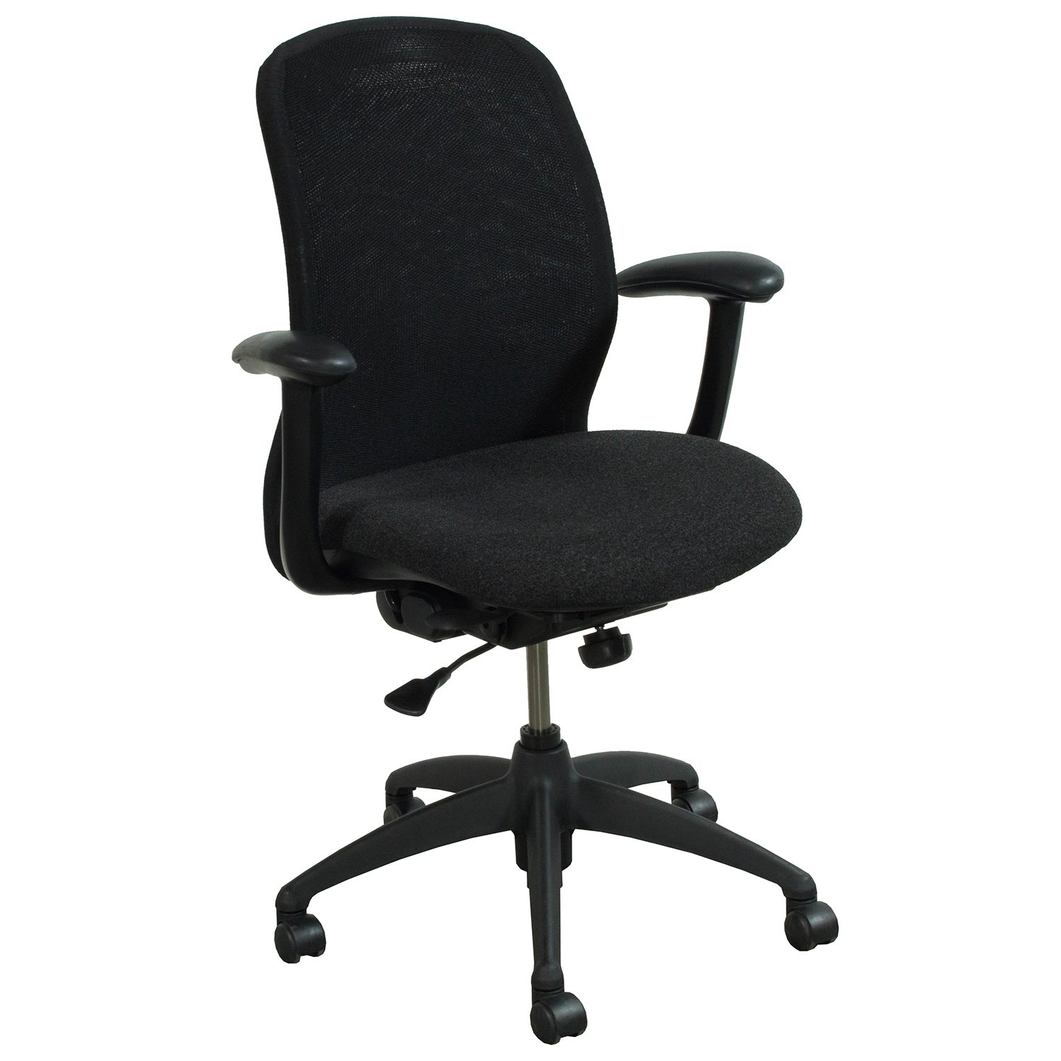 Haworth Improv He Series Used Conference Chair Black Mesh