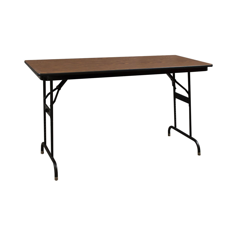 Heavy Duty Used Folding Table 24x48 Walnut National