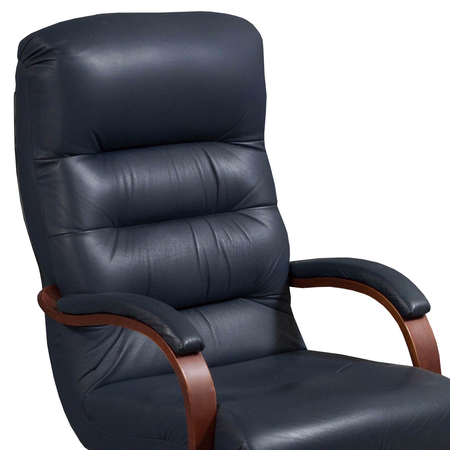 La Z Boy Horizon Used High Back Leather Conference Chair
