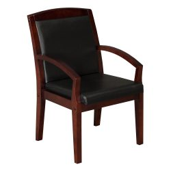 Anchor by goSIT New Executive PU Leather Wood Side Chair Cherry