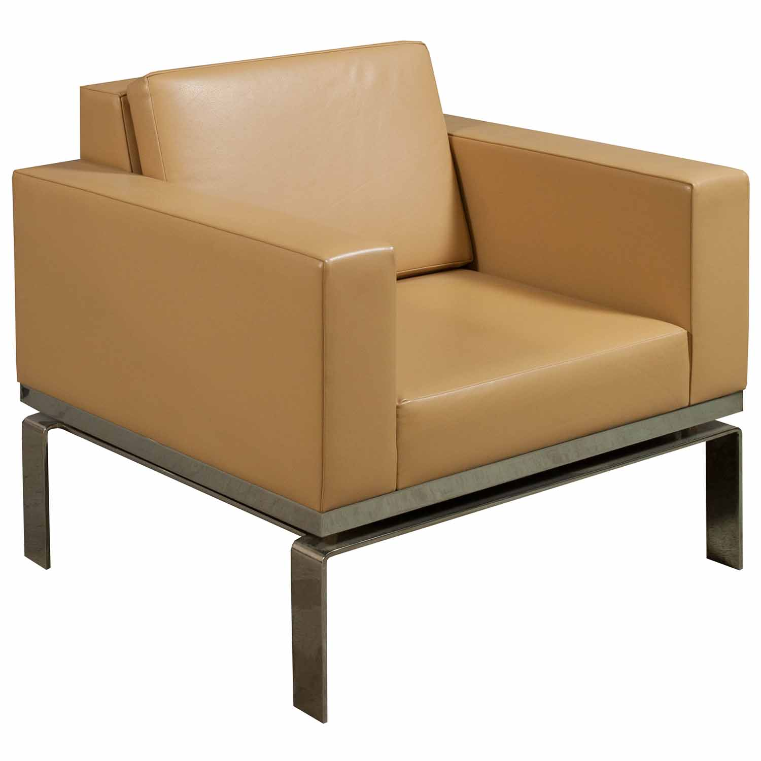 Bernhardt One Series Used Leather Reception Chair ...