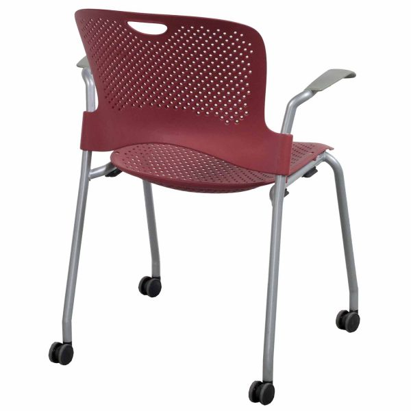 Herman Miller Caper Used Mobile Stack Chair Red