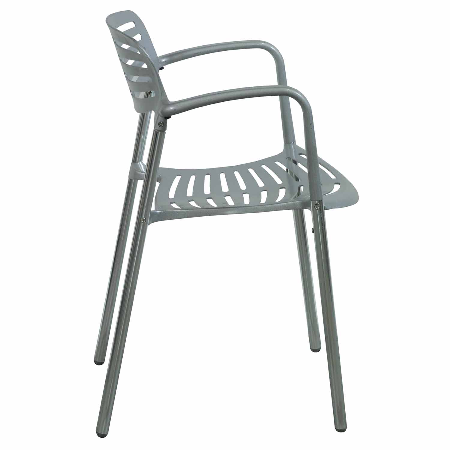 Modern Used Metal Stack Chair Silver National Office