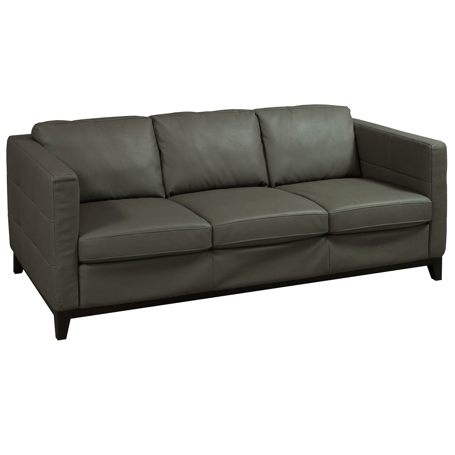 Jason Furniture Used Leather Sofa Brown National Office