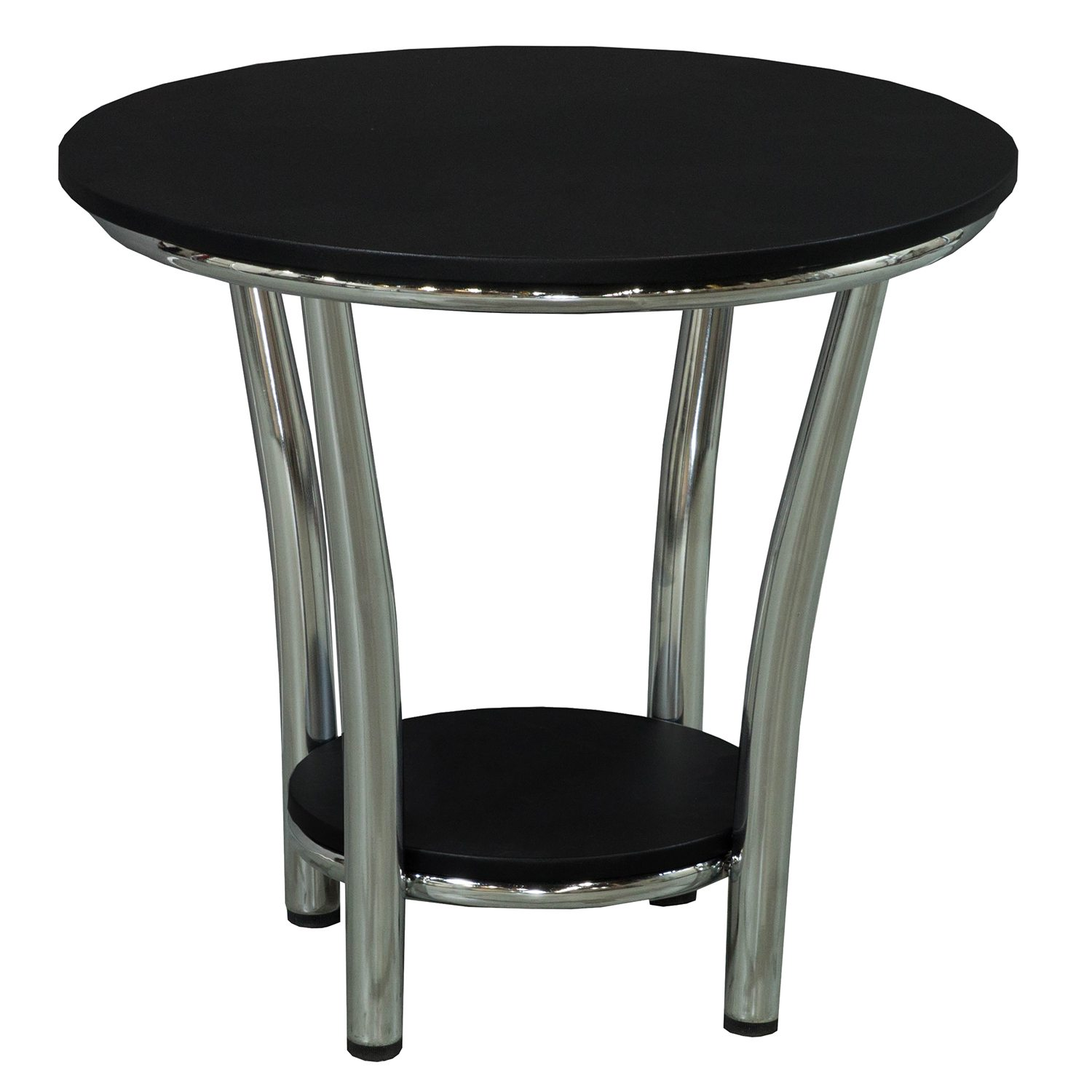 Laminate Round 24 Inch Reception Table Black National