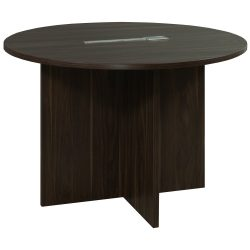 Denmark 42 Inch Round Laminate Meeting Table American Walnut