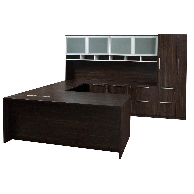 U Shaped Executive Desk Sauder Roll Top Desk