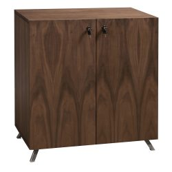 Louis 32 inch Veneer Storage Cabinet with Legs Walnut