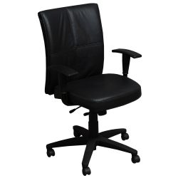 Steelcase Turnstone Jacket Used Conference Chair Black Front View