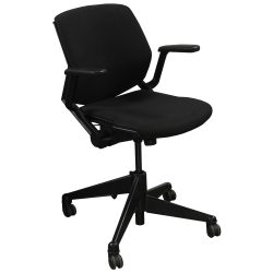 Steelcase Vecta Kart Used Conference Chair Black Front View