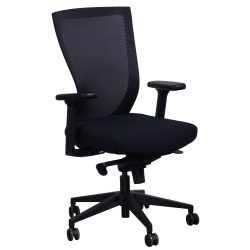 Navigator by goSIT Big and Tall Task Chair Black Front View