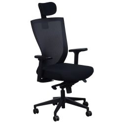 Navigator by goSIT Big and Tall Task Chair with Headrest Black Front View