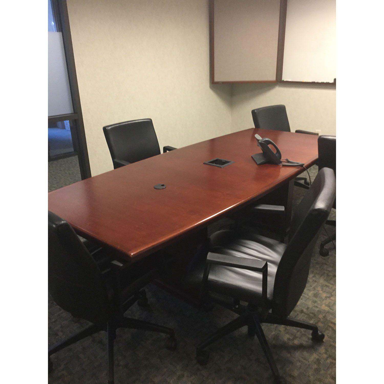 Steelcase Used Wood Veneer 8ft Conference Table, Mahogany ...