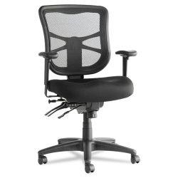 Alera Elusion Series Mid Back Mesh Multifunction Task Chair Black