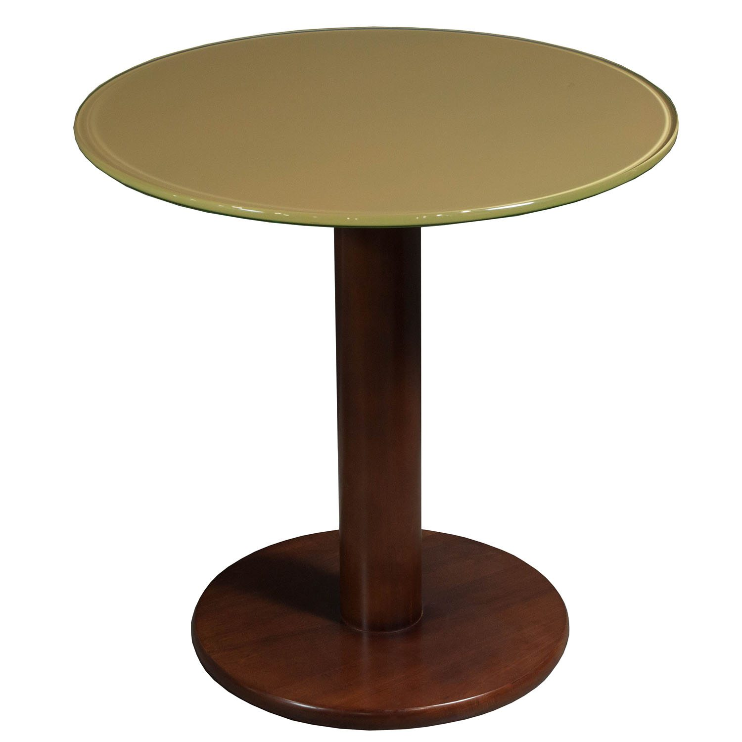Used 24 Inch Wood Round Glass Table ...