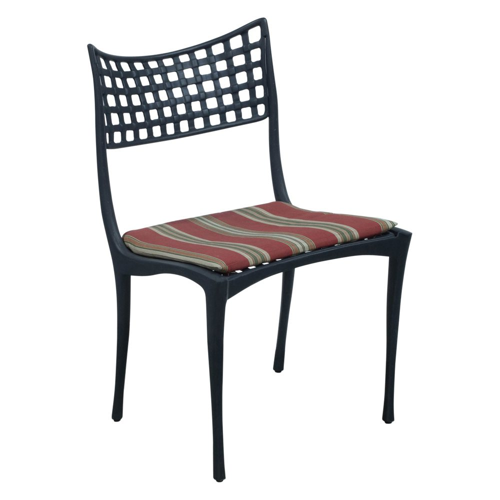 Astonishing Brown Jordan Used Black Metal Outdoor Chair Red Stripe Download Free Architecture Designs Intelgarnamadebymaigaardcom
