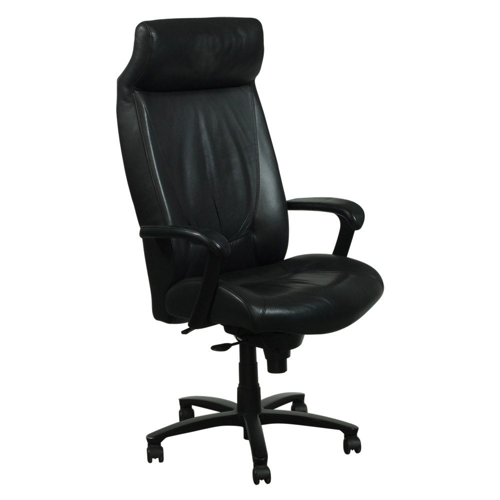 Haworth Monaco Used Leather Conference Chair Black