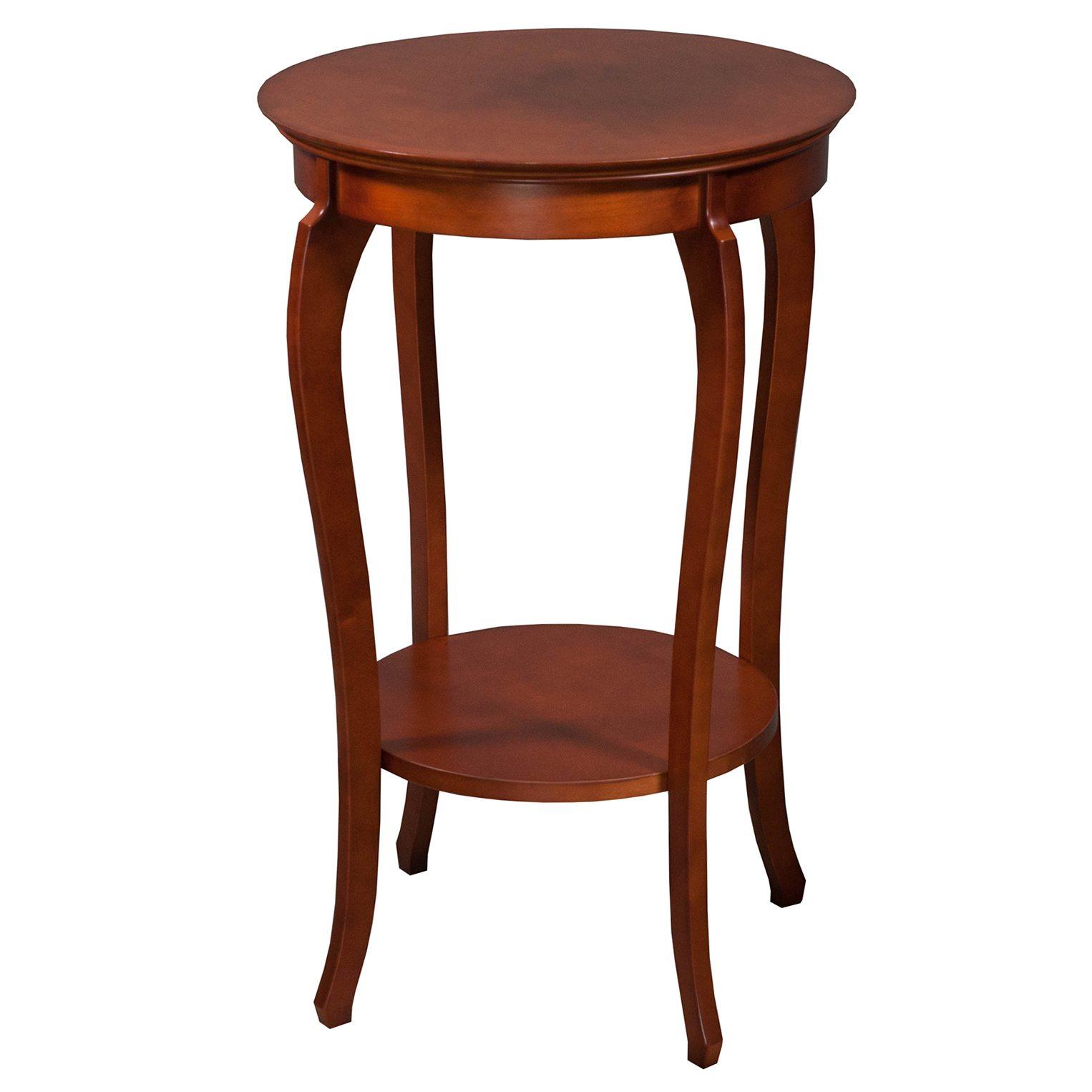 Jofco Used 18 Inch Veneer Round End Table Cherry