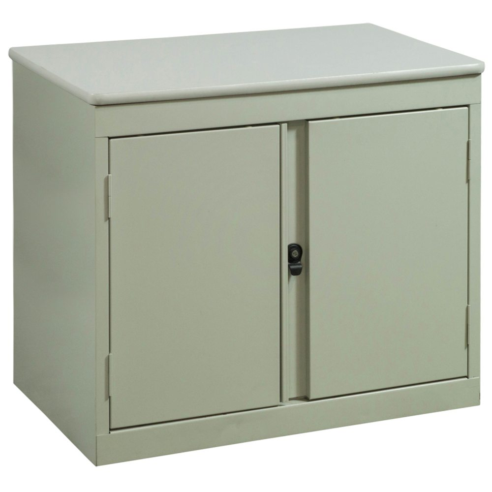 used 2 door storage cabinet putty national office interiors and liquidators. Black Bedroom Furniture Sets. Home Design Ideas